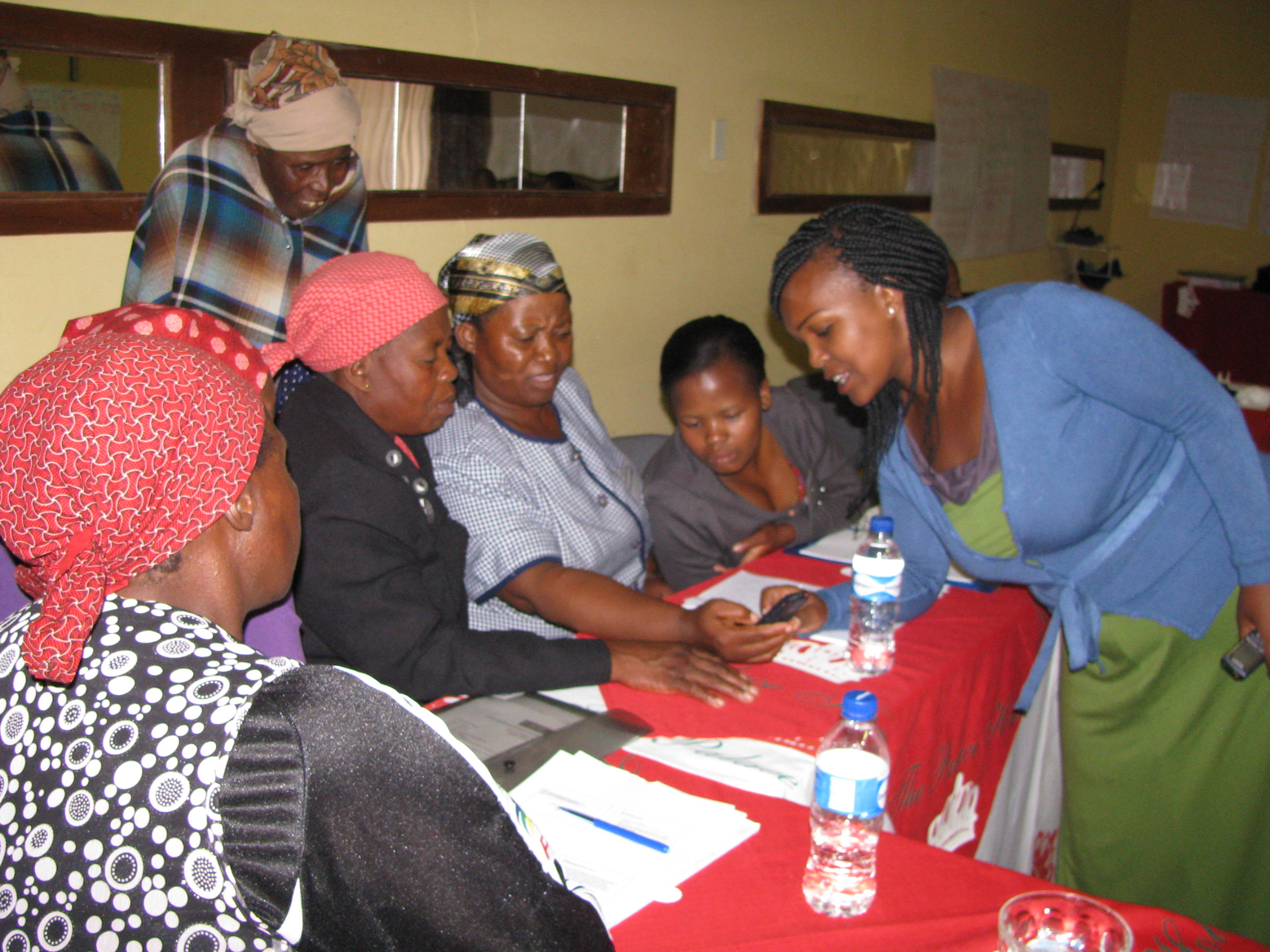 Women sharing communication skills