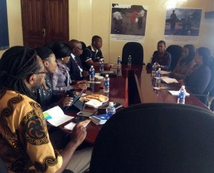 IMPI and PSAf staff at a meeting